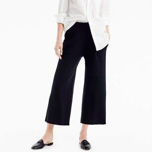 J. Crew cropped wool blend knit black pants M